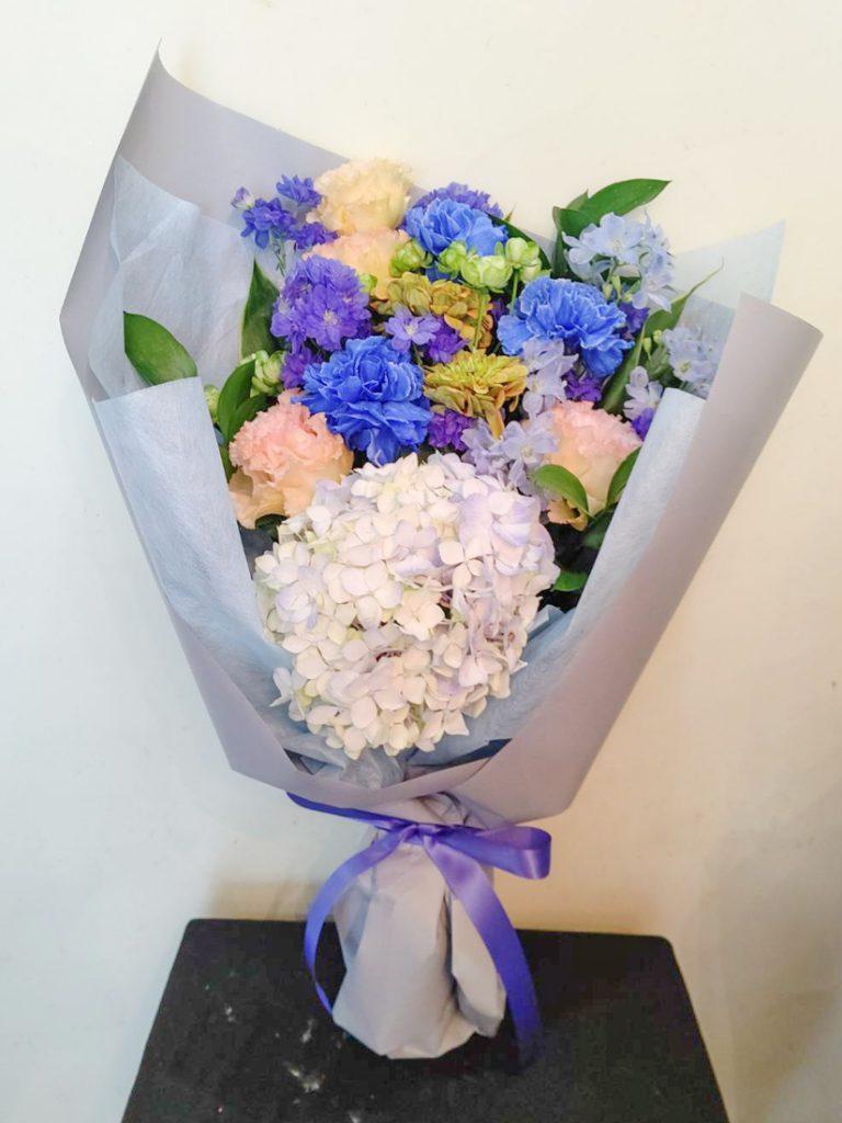 青い花束 お盆用